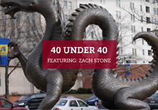 Press Release: 40 Under 40 Featuring  Zach Stone